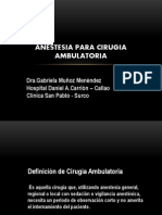 Anestesia Para Cirugia Ambulatoria 2012