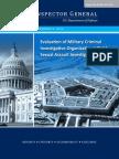Criminal Investigations- Evaluation of Military Criminal Investigative Organizations' Child Sexual Assault Investigations