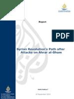 Syrian Revolution's Path After Attacks on Ahrar Al-Sham
