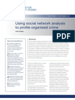 Using Social Network Analysis to Profile Organised Crime