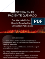 Anestesia en El Paciente Quemado