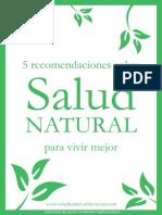 5 Recomendaciones Sobre Salud Natural Para Vivir Mejor
