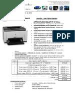 Impresor Laserjet Color Hp Cp1025nw 01 06 2012