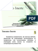 Insumo Inerte - Farmacotécnica Homeopática