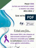 Projet SIRA dans la MRC de Montcalm -  une rétrospective 2011-2014