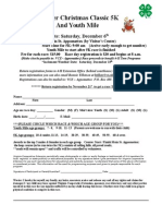 2014 Clover Christmas Classic Registration Form