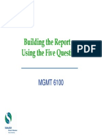 Use of 5 Questions to Build Report Jan 2011