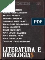 Barberis, Pierre y Otros - Literatura e Ideologías