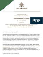 Papa Francesco Motu Proprio 20140224 Fidelis Dispensator Et Prudens