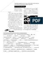 The Definite and Indefinite Article Exercise