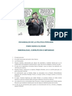 Politica - Escandalos de La Politica Peruana