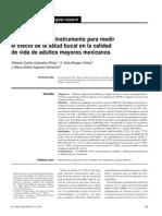 Validación de Un Instrumento Para Medir El Efecto de La Salud Bucal en La Calidad de Vida de Adultos Mayores Mexicanos