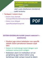 Kekebalan Alamiah Dan Kekebalan Dapatan 25-9-2013
