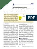 Length-Dependent Conductance of Oligothiophenes