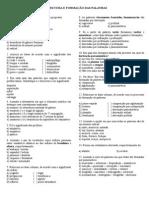 Exercicios Estrutura e Formacao Das Palavras