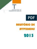Relatório Atividades ACT 2013