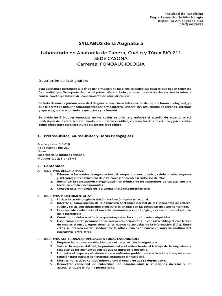 Syllabus 2014 Bio211 Semestre 2