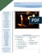 Newsletter - December 13, 2009