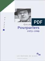 Gilles Deleuze Lettre a Un Critique Severe Un texte important de Deleuze