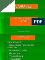 d. Variabel