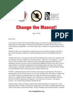 Change the Mascot NFL Owner Letter
