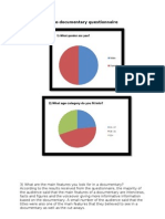 Results of the Pre-documentary Questionnaire