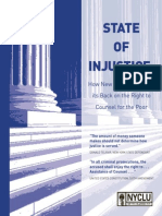 NYCLU Report on Indigent Defense