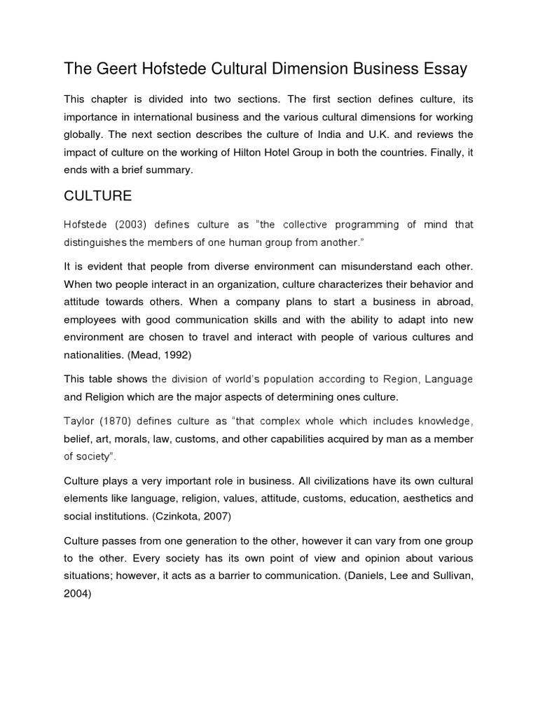 how to start a business essay  mistyhamel the geert hofstede cultural dimension business essay docx united starting a