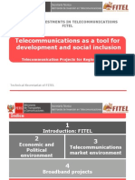 FITEL Telecom Projects for Regions of Peru