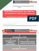 FITEL Telecom Projects for Regions of Peru