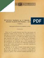 El Servicio Sanitario en El Ejercito Chileno Durante La GdP.1920