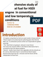 Comprehensive Study of Biodiesel Fuel for HSDI Engine