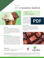 MALTISWEET® crystalline maltitol fact sheet