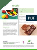 Mannitol powder fact sheet