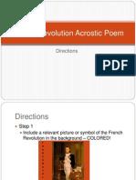 french revolution acrostic poem