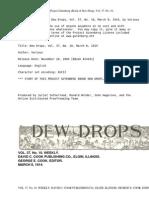 Dew Drops, Vol. 37, No. 10, March 8, 1914 by Various