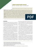 definición de prioridades de investigación mundial en salud mental