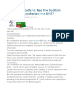 FactCheck Scotland Has the Scottish Government Protected the NHS