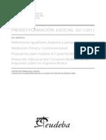 Premio Formación Judicial 2011-2012