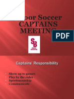 Indoor Soccer Captains Meeting 2014