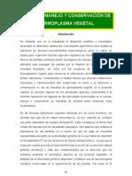Manejo y Conservación de Germoplasma Vegetal