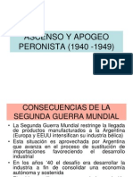 Ascenso y Apogeo Peronista 1940 1949