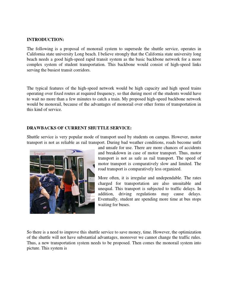 Final Proposal | Rail Transport | Train