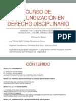 Curso de Profundización en Derecho Disciplinario