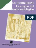 DURKHEIM, E. - Las Reglas Del Metodo Sociologico