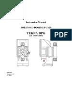 Seko TEKNA DPG Pump Instruction Manual