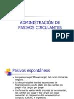8-Administración de Pasivos Circulantes