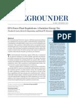 EPA Power Plant Regulations - A Backdoor Energy Tax_Heritage_BG2863 Update
