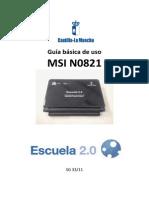 Manual Netbook MSI N0821