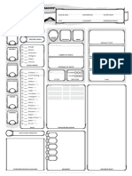 Dungeons & Dragons - 5th edition - Character Sheet (3 pages)